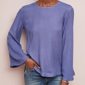 NWT-Anthropologie Long Sleeve Blouse- Petite small